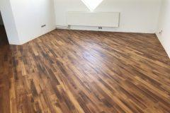 Lihvitud ja õlitatud parkettpõrand. Kasutatud õli Rubio Monocoat.